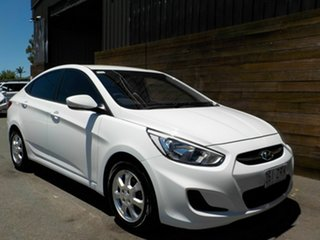 2016 Hyundai Accent RB4 MY17 Active White 6 Speed Manual Sedan.