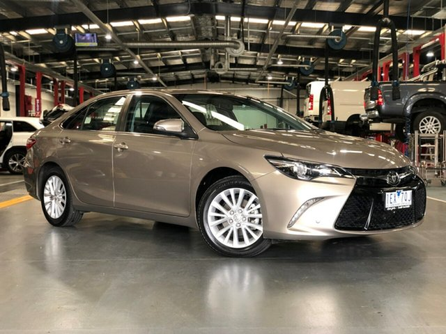 Pre-Owned Toyota Camry ASV50R Atara SL Oakleigh, 2015 Toyota Camry ASV50R Atara SL Brown 6 Speed Sports Automatic Sedan
