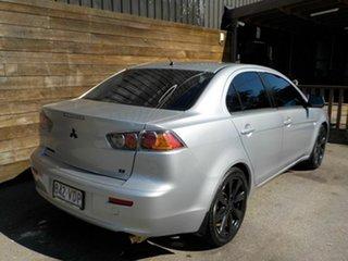 2012 Mitsubishi Lancer CJ MY13 ES Silver 6 Speed Constant Variable Sedan.