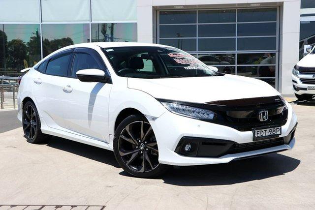 Used Honda Civic 10th Gen MY19 RS Liverpool, 2019 Honda Civic 10th Gen MY19 RS Platinum White 1 Speed Constant Variable Sedan