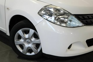 2011 Nissan Tiida C11 S3 ST White 4 Speed Automatic Hatchback.