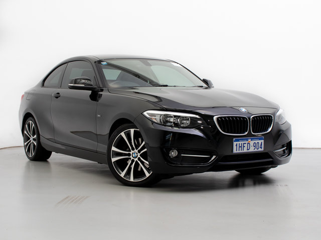 Used BMW 220i F22 Sport Line, 2014 BMW 220i F22 Sport Line Black 8 Speed Automatic Coupe
