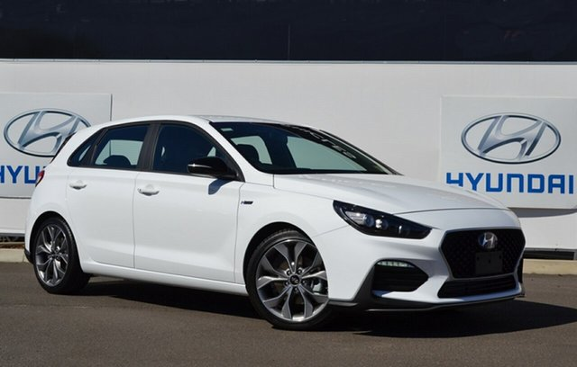 New Hyundai i30 PD.V4 MY21 N Line Warwick, 2020 Hyundai i30 PD.V4 MY21 N Line Polar White 7 Speed Auto Dual Clutch Hatchback