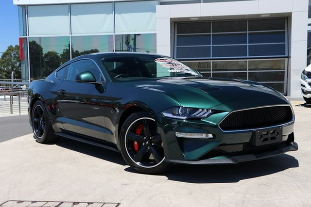 Used Ford Mustang FN 2019MY BULLITT Liverpool, 2018 Ford Mustang FN 2019MY BULLITT Bright Highland Green 6 Speed Manual Fastback