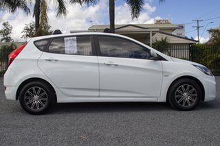2011 Hyundai Accent RB Active Crystal White 4 Speed Sports Automatic Hatchback