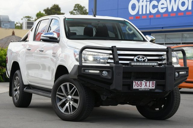 Used Toyota Hilux GUN126R SR5 Double Cab Aspley, 2017 Toyota Hilux GUN126R SR5 Double Cab White 6 Speed Sports Automatic Utility