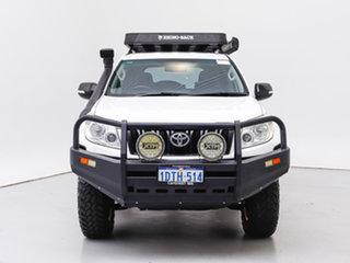 2011 Toyota Landcruiser Prado KDJ150R 11 Upgrade GX (4x4) White 6 Speed Manual Wagon.