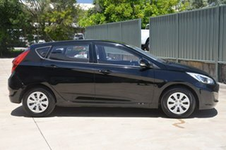2015 Hyundai Accent RB2 MY15 Active Black 4 Speed Sports Automatic Hatchback.