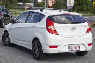 2011 Hyundai Accent RB Active Crystal White 4 Speed Sports Automatic Hatchback.