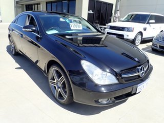 2006 Mercedes-Benz CLS-Class C219 MY07 CLS350 Coupe Metallic Black 7 Speed Sports Automatic Sedan.