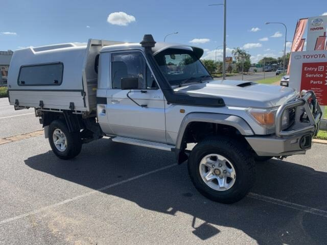 Pre-Owned Toyota Landcruiser VDJ79R MY12 Update GX (4x4) Emerald, 2014 Toyota Landcruiser VDJ79R MY12 Update GX (4x4) Silver 5 Speed Manual Cab Chassis