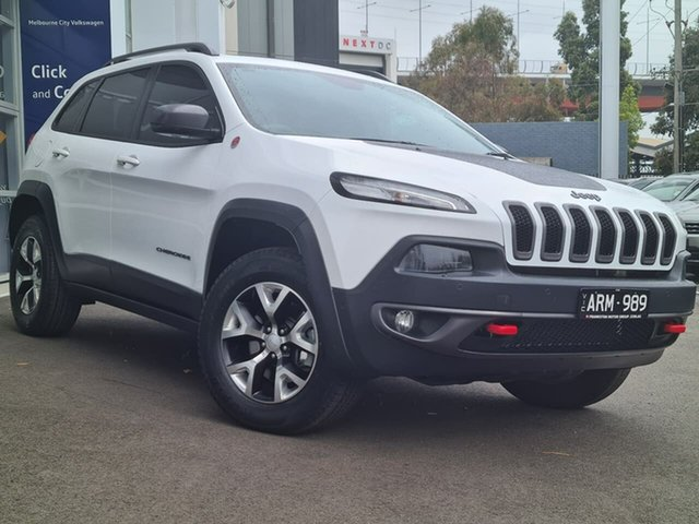 Used Jeep Cherokee Port Melbourne, 2018 Jeep Cherokee TRAILHAWK White Automatic Wagon