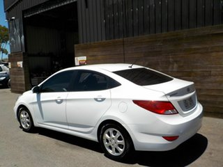 2016 Hyundai Accent RB4 MY17 Active White 6 Speed Manual Sedan