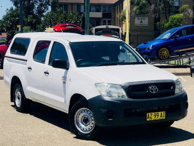 Used Toyota Hilux TGN16R MY09 Workmate 4x2 Liverpool, 2008 Toyota Hilux TGN16R MY09 Workmate 4x2 White 4 Speed Automatic Utility