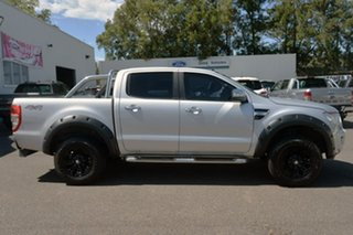 2012 Ford Ranger PX XLT Double Cab Silver 6 Speed Manual Utility.