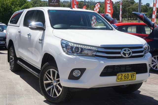 Used Toyota Hilux GUN126R SR5 Double Cab Phillip, 2016 Toyota Hilux GUN126R SR5 Double Cab White 6 Speed Sports Automatic Utility