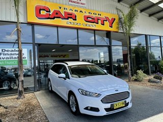 2017 Ford Mondeo MD Facelift Ambiente TDCi White 6 Speed Automatic Wagon.
