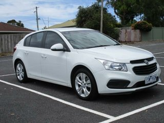 2015 Holden Cruze JH Series II Equipe White Automatic Hatchback.