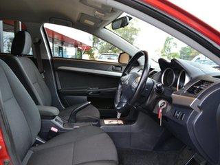 2010 Mitsubishi Lancer CJ MY10 ES Red 6 Speed Constant Variable Sedan.