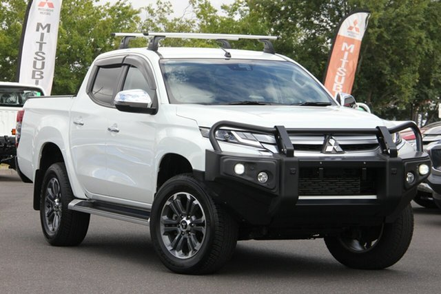 Used Mitsubishi Triton MR MY19 GLS Double Cab Essendon North, 2019 Mitsubishi Triton MR MY19 GLS Double Cab White 6 Speed Sports Automatic Utility