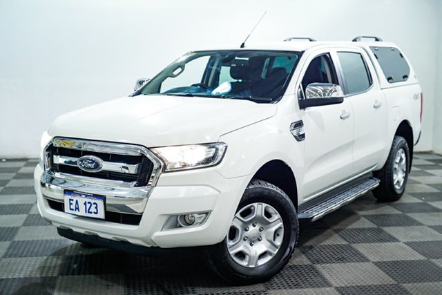 Used Ford Ranger PX MkII XLT Double Cab Edgewater, 2015 Ford Ranger PX MkII XLT Double Cab White 6 Speed Manual Utility