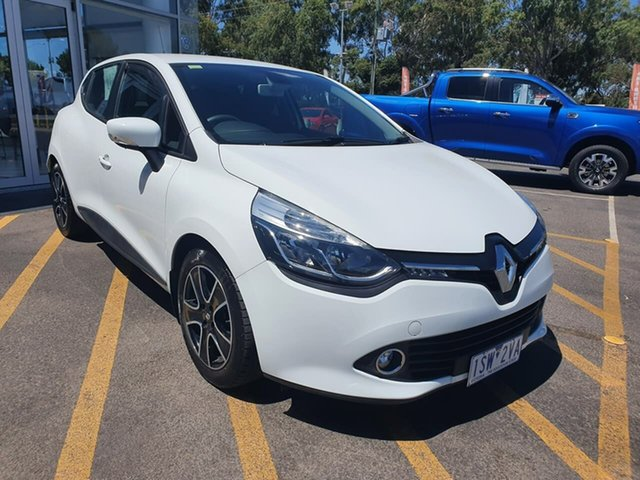 Used Renault Clio IV B98 Expression EDC Epsom, 2015 Renault Clio IV B98 Expression EDC White 6 Speed Sports Automatic Dual Clutch Hatchback