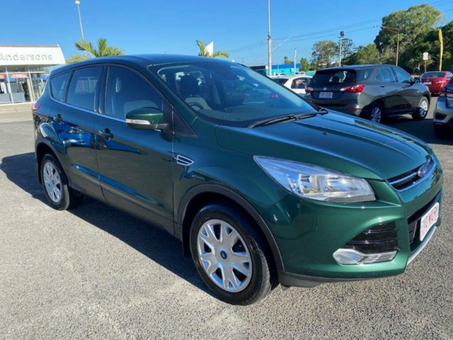 Used Ford Kuga TF MY16 Ambiente 2WD Gladstone, 2016 Ford Kuga TF MY16 Ambiente 2WD Green 6 Speed Sports Automatic Wagon