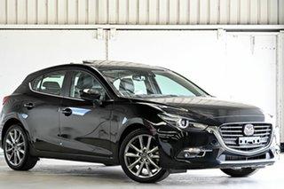 2017 Mazda 3 BN5438 SP25 SKYACTIV-Drive Astina Black 6 Speed Sports Automatic Hatchback.