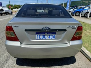2006 Toyota Corolla ZZE122R Ascent Silver 4 Speed Automatic Sedan.