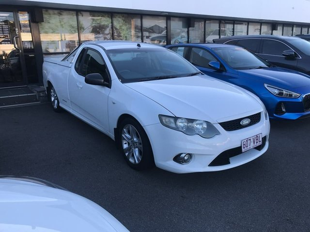 Used Ford Falcon FG XR6 Super Cab Mount Gravatt, 2009 Ford Falcon FG XR6 Super Cab White 5 Speed Sports Automatic Cab Chassis
