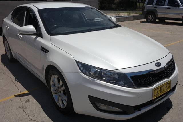 Used Kia Optima TF MY12 SI Maryville, 2012 Kia Optima TF MY12 SI White 6 Speed Sports Automatic Sedan