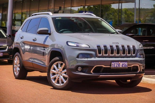 Used Jeep Cherokee KL MY15 Limited Gosnells, 2015 Jeep Cherokee KL MY15 Limited Grey 9 Speed Sports Automatic Wagon