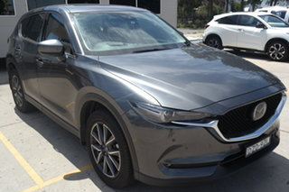 2018 Mazda CX-5 KF4WLA GT SKYACTIV-Drive i-ACTIV AWD Machine Grey 6 Speed Sports Automatic Wagon.
