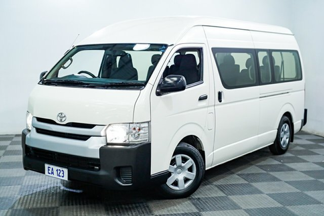 Used Toyota HiAce KDH223R Commuter High Roof Super LWB Edgewater, 2017 Toyota HiAce KDH223R Commuter High Roof Super LWB White 4 Speed Automatic Bus