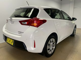 2015 Toyota Corolla ZRE182R Ascent White 7 Speed CVT Auto Sequential Hatchback.