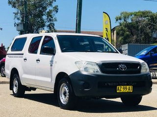 2008 Toyota Hilux TGN16R MY09 Workmate 4x2 White 4 Speed Automatic Utility