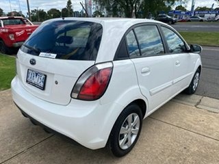 2010 Kia Rio JB MY10 S White 4 Speed Automatic Hatchback