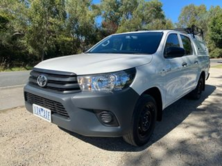 2016 Toyota Hilux TGN121R Workmate Double Cab 4x2 White 6 Speed Sports Automatic Utility.