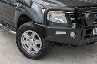 2015 Ford Ranger PX XLT Double Cab Grey 6 Speed Sports Automatic Utility.