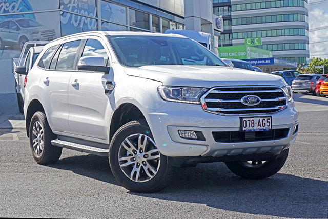 Used Ford Everest UA II 2020.75MY Trend Springwood, 2020 Ford Everest UA II 2020.75MY Trend White 10 Speed Sports Automatic SUV