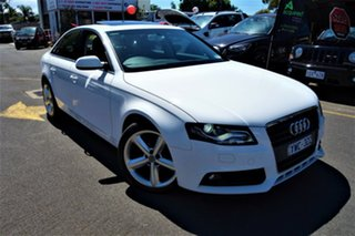 2012 Audi A4 B8 8K MY12 Multitronic White 8 Speed Constant Variable Sedan