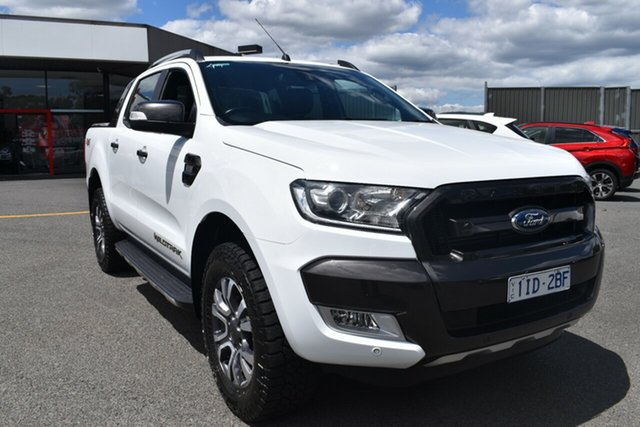Used Ford Ranger PX MkII Wildtrak Double Cab Wantirna South, 2016 Ford Ranger PX MkII Wildtrak Double Cab White/wildtrak Two T 6 Speed Sports Automatic Utility