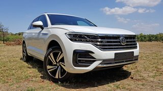 2020 Volkswagen Touareg CR MY21 210TDI Tiptronic 4MOTION R-Line Pure White 8 Speed Sports Automatic.