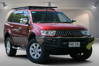 2009 Mitsubishi Challenger PB (KH) MY10 XLS Red 5 Speed Sports Automatic Wagon.