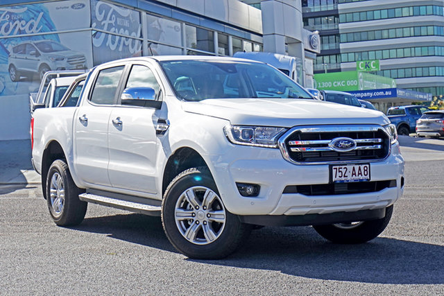 Used Ford Ranger PX MkIII 2020.75MY XLT Springwood, 2020 Ford Ranger PX MkIII 2020.75MY XLT White 6 Speed Sports Automatic Double Cab Pick Up