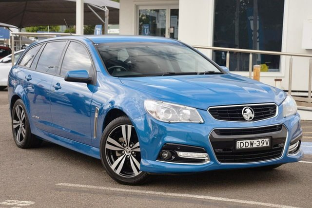 Used Holden Commodore VF MY15 SV6 Sportwagon Storm North Gosford, 2015 Holden Commodore VF MY15 SV6 Sportwagon Storm Blue 6 Speed Sports Automatic Wagon