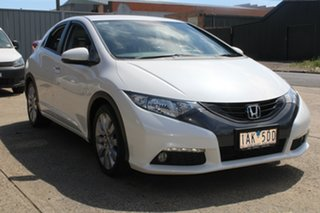 2013 Honda Civic FK VTi-L White 5 Speed Automatic Hatchback.