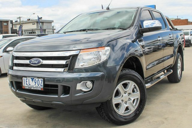 Used Ford Ranger PX XLT Double Cab Coburg North, 2015 Ford Ranger PX XLT Double Cab Grey 6 Speed Manual Utility