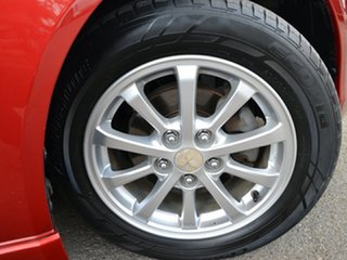 2010 Mitsubishi Lancer CJ MY10 ES Red 6 Speed Constant Variable Sedan