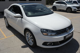 2011 Volkswagen EOS 1F MY11 103TDI DSG White 6 Speed Sports Automatic Dual Clutch Convertible.